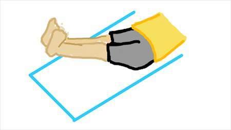 横に寝た姿勢で脚を上げた状態で数字を描いて腹筋を鍛えるトレーングのイラスト