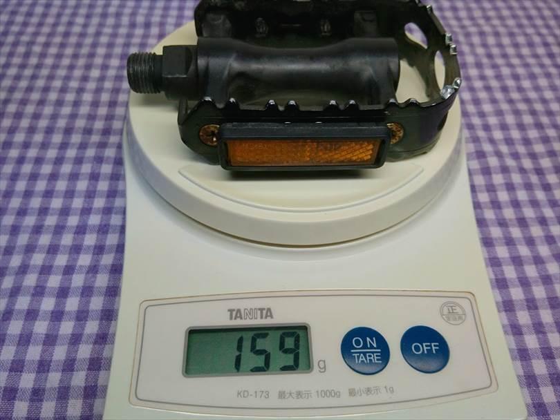 エスケープR3の純正ペダルの重さ